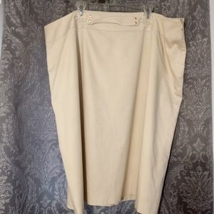 Alex Marie cream colored pencil skirt size 18W